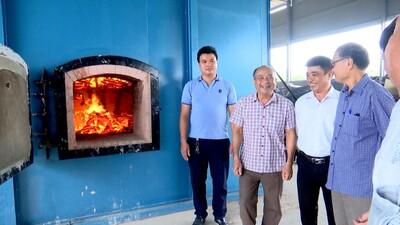 Bắc Ninh: Vận hành thử lò đốt rác thải sinh hoạt tại xã Hương Mạc