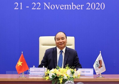 Thủ tướng Nguyễn Xuân Phúc dự Hội nghị thượng đỉnh G20 trực tuyến