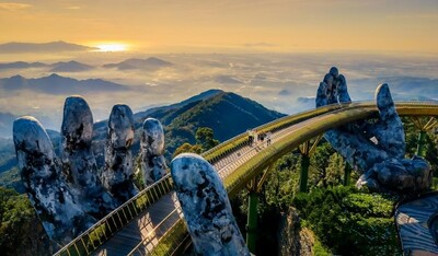 Ngắm những hình ảnh này, dễ hiểu vì sao Cầu Vàng được World Travel Awards vinh danh