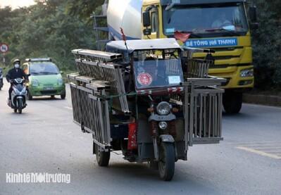 Hiểm họa từ những chiếc xe 3 bánh tự chế gây ô nhiễm môi trường