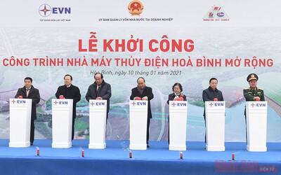 Thủ tướng Nguyễn Xuân Phúc dự khởi công Nhà máy thủy điện Hòa Bình mở rộng