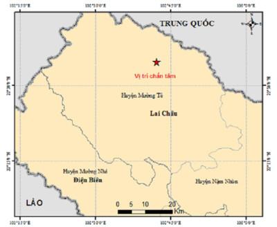 Động đất 3.6 richter tại Lai Châu