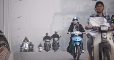 Ô nhiễm không khí vẫn 'bao trùm' các đô thị phía Bắc