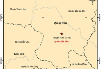 Động đất 2.9 độ richter tại huyện Nam Trà My, Quảng Nam