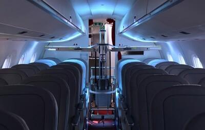 Thụy Sĩ thử nghiệm robot khử trùng trên các máy bay chở khách