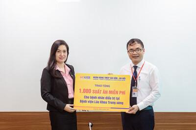 SHB ủng hộ 1.000 suất ăn cho bệnh nhân Bệnh viện Lão khoa Trung ương