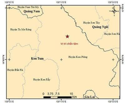 Động đất lại tiếp tục tái diễn ở Tây Nguyên