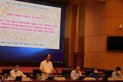 Bộ TN&MT tham vấn các tỉnh phía Nam về quản lý môi trường