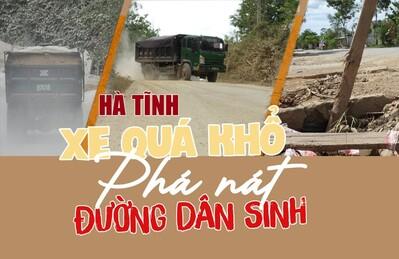 Hà Tĩnh: Xe quá khổ 'phá nát' đường dân sinh