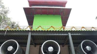 Tháp lọc không khí khổng lồ đầu tiên được vận hành tại Ấn Độ