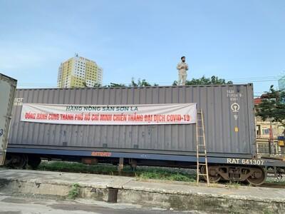 Ngày mai (28/8), 105 tấn nông sản từ Sơn La chuyển vào tới miền Nam