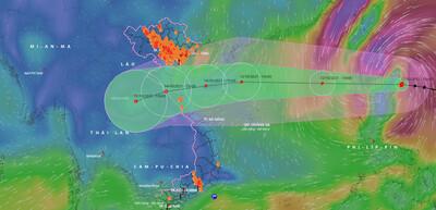 Bão Kompasu giật cấp 12, khả năng mạnh thêm trở thành cơn bão số 8
