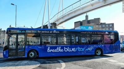 Các thành phố của Anh sẽ có xe buýt hút ô nhiễm từ không khí