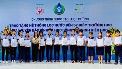 Tập đoàn Novaland - lan tỏa niềm vui 'nước sạch học đường' đến huyện Bắc Bình, tỉnh Bình Thuận