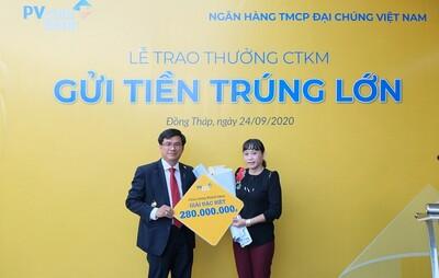PVcomBank trao tặng gần 330 triệu đồng cho khách hàng may mắn
